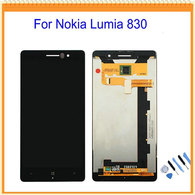 imágenes para Para Nokia Lumia 830 Pantalla LCD con Pantalla Táctil Digitalizador Asamblea Negro + Herramientas de Envío Gratis