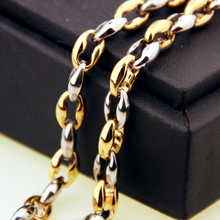 Men Women Coffee Beans Link Chain 7.5MM Necklace Stainless Steel Rope chain Necklaces for Fashion Hip hop Jewelry