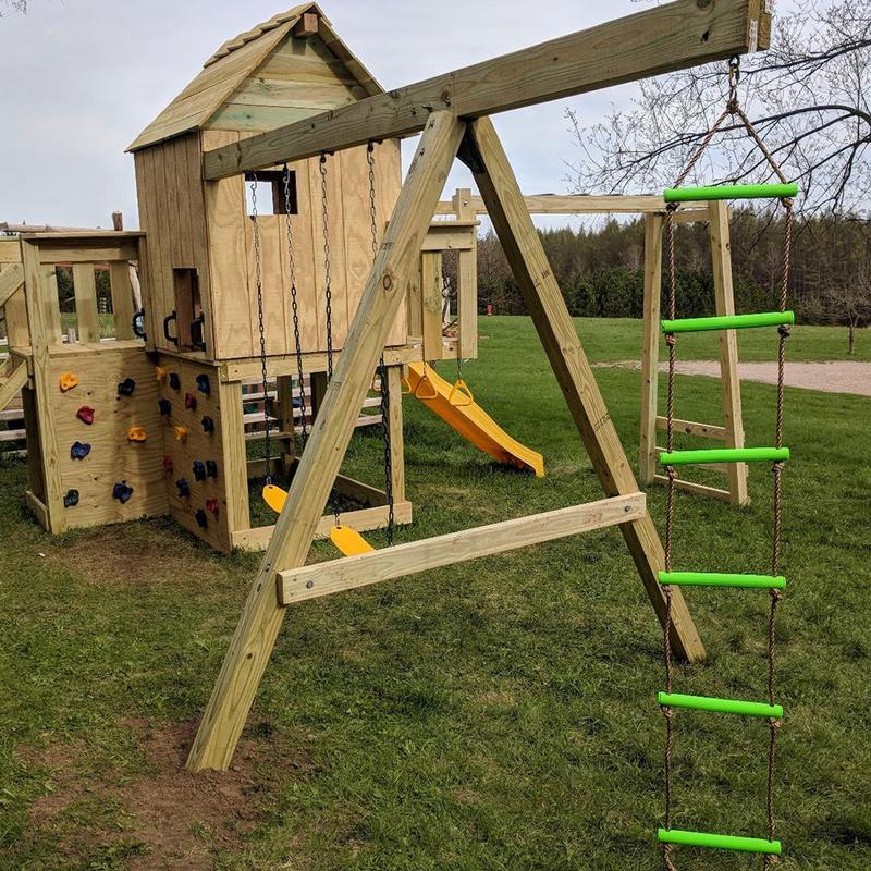 Children Outdoors Swing Slide Climbing Rope Ladder 6 Speed