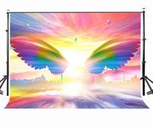150x220cm Colorful Wings Studio Backdrop Dreamlike Sky Sunlight Photography Background Props