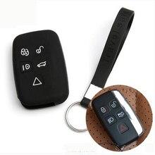Резиновые силиконовые Автозапуск дистанционного крышки брелок кожа случае протектор Ключи крышка с кольцом для ключей для Jaguar XF XJ XK F-темп