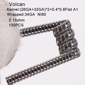 Image 5 - XFKM a1 100pcs/box staple fused clapton coil Seper juggernaut Clapton coil Alien taiji super Clapton Heating Resistance rda coil