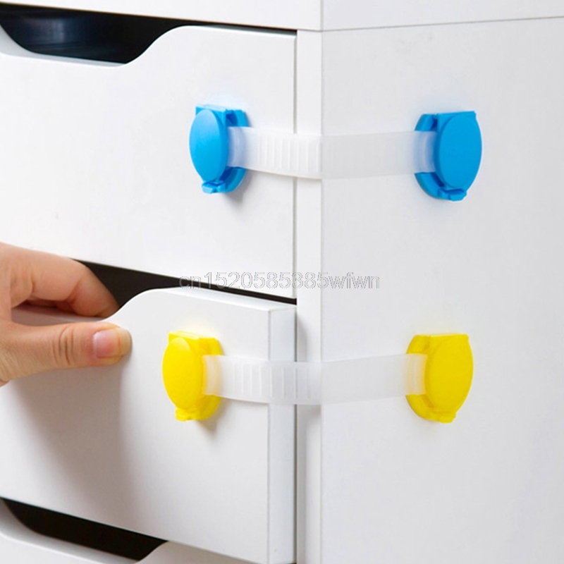 4Pcs Plastic Baby Safety Protection Child Locks Cabinet Door Baby Security Lock #HC6U# Drop Shipping