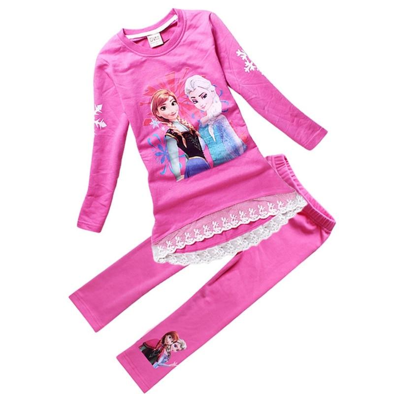 Elsa Anna long t shirt legging set 2-4