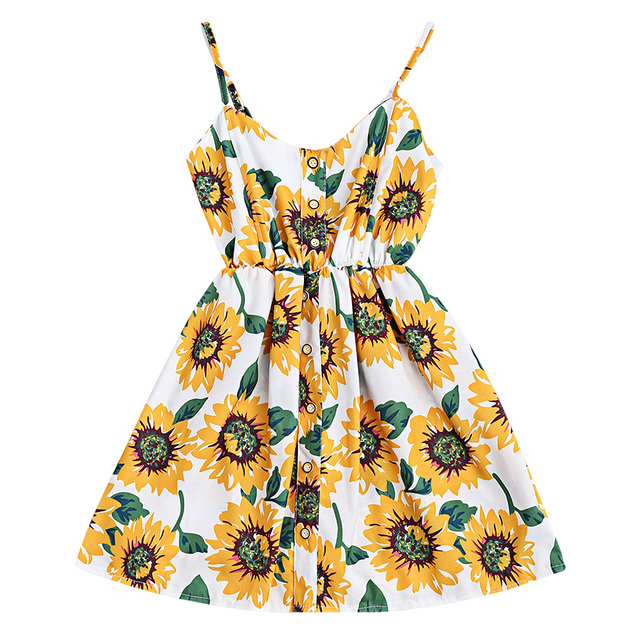 83adf4a8646d Wipalo Sunflower Print Summer Short Beach Dress 2017 Women Sexy Spaghetti  Strap Cami Dress Casual Boho Party Dress Vestidos