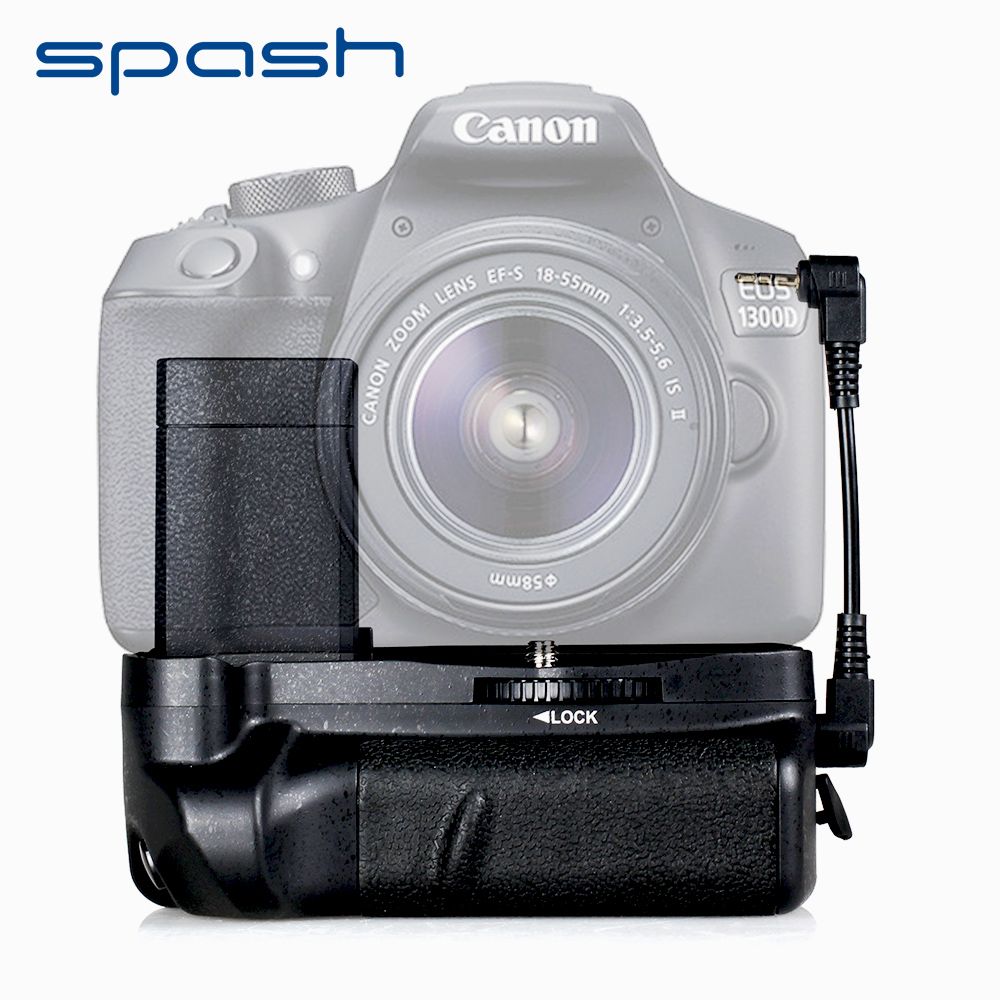 spash Multi-Power Battery Grip for Canon EOS 1100D 1200D 1300D Rebel T5 T6 T3 EOS Kiss X50 Work with LP-E10 Battery