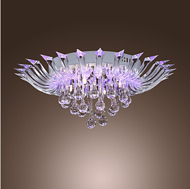 New semi flush mount modern crystal ceiling lighting with remote new semi flush mount modern crystal ceiling lighting with remote control g4 bulb base aloadofball Gallery