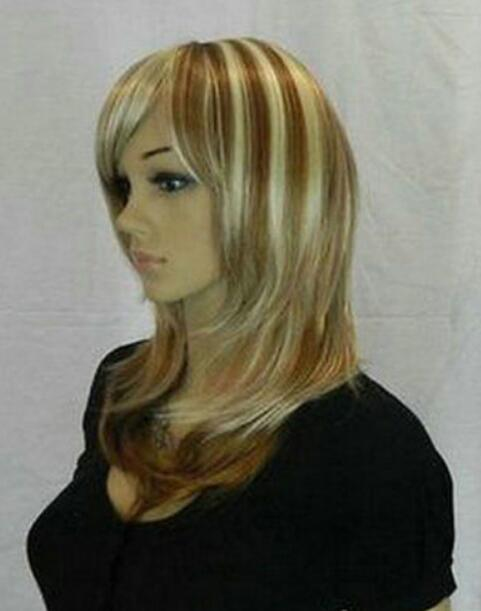 Hot Heat Resistant Kanekalon Party Hair FREE SHIPPING>>Latest New Short Blonde Woman's Hair Wig