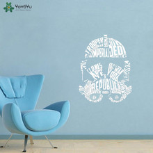YOYOYU Wall Decal Star Wars Storm Trooper Quotes Sticker Removable For Kids Room Robot Avatar Art Decoration QQ125