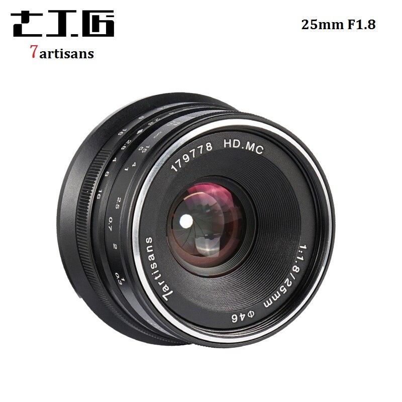 7 artisans 25mm F1.8 Système Mirrorless Camera Lens à Unique Série pour E Montage Canon EOS-M Mout Micro 4/3 caméras A7 A7II A7R