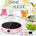 11 W 220 V Draagbare Koffie Mok Thee Drank Heater Cup Elektrische Desktop Mok Pad Cafe Melk Soep Warmer Warming lade Warmte Isolatie