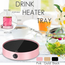 11W 220V Portable Coffee Mug Tea Beverage Heater Cup Electric Desktop Mug Pad Cafe Milk Soup Warmer Warming Tray Heat Insulation