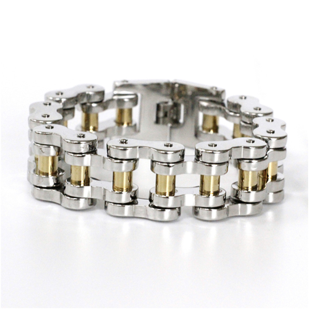 Support Dropship Bicycle Chain Cool Man Bracelet 316L Stainless Steel Hot Biker Style Top Bracelet fashion 316l stainless steel man bracelet skull pattern h012