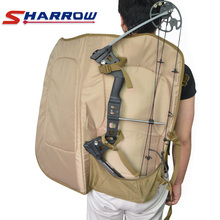 Sharrow Compound Bow Bag 600D Nylon Camouflage Printing Backpack for Hunting Shooting Compound Bow Bag 1pc archery compound bow bag 600d nylon two shoulder straps backpack fit for all style compound bow hunting accessory