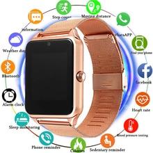 цены на Smart Watch GT08 Z60 Men Women Bluetooth Wrist Smartwatch Support SIM/TF Card Wristwatch For Apple Android Phone PK DZ09  в интернет-магазинах