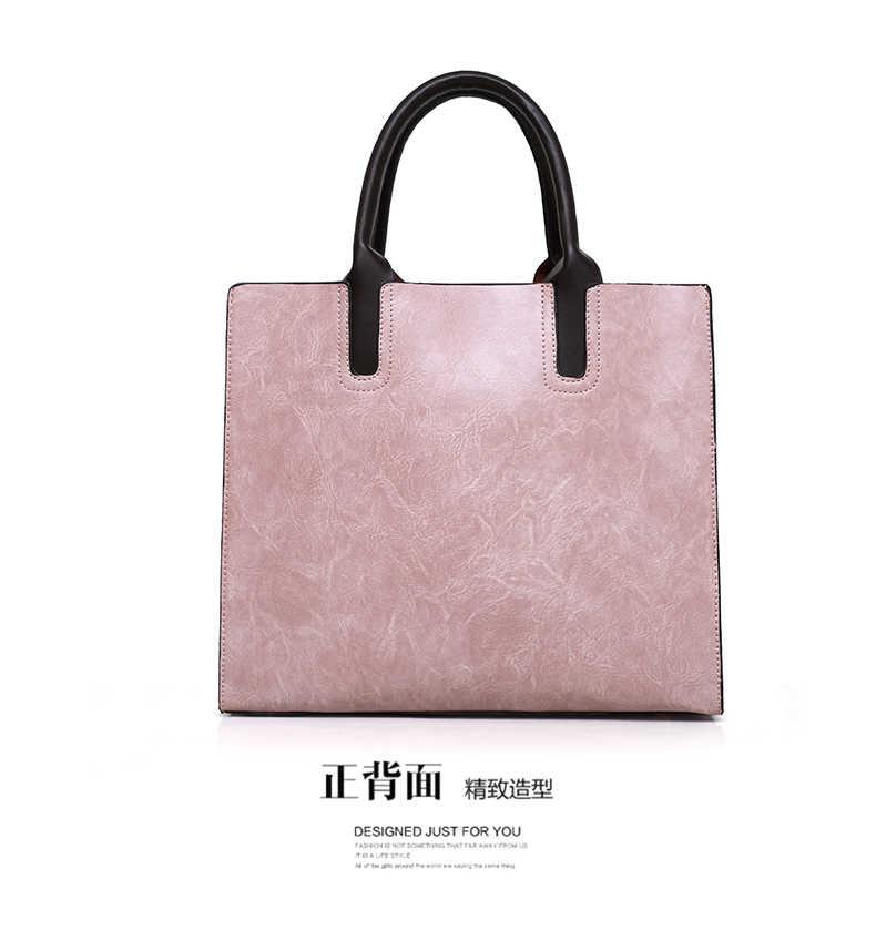 ... Женские сумки наборы 3 шт. кожаные сумки на плечо женские большие сумки  через плечо Bolsas ... 24bd86e0c62