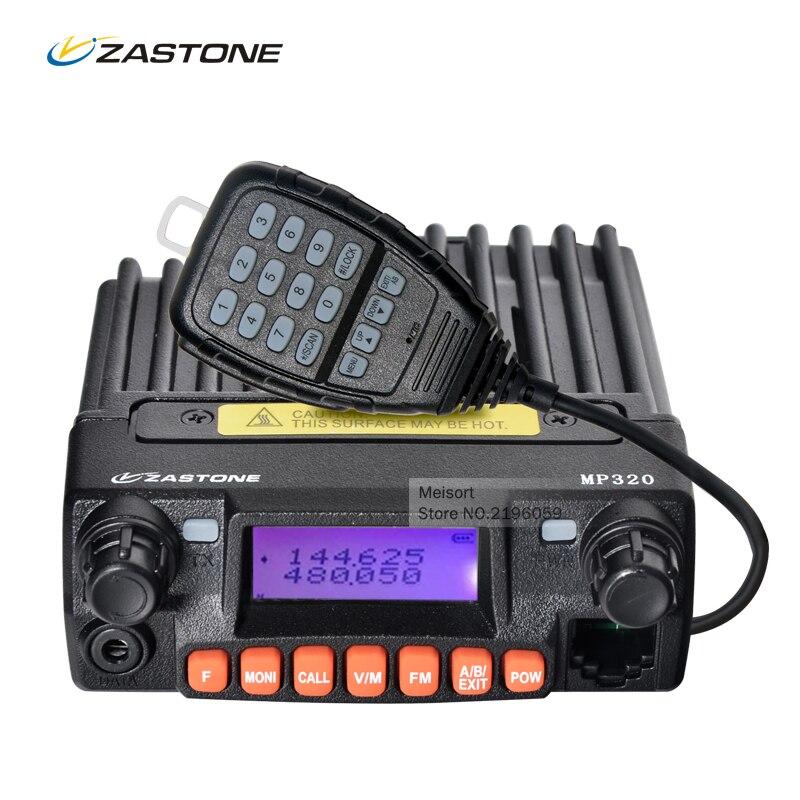 Zastone MP320 20W Mobile Radio Car Communicator VHF UHF 136 174 400 480MHZ 240 260MHz Two