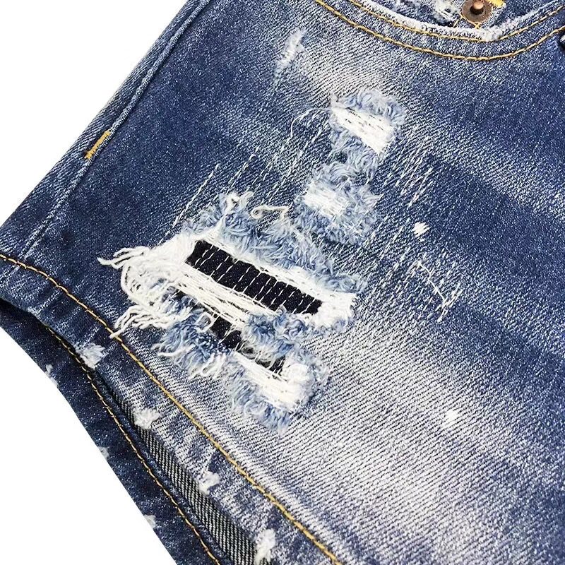 Agujero Ripped Cintura Femenino Nuevo Mujeres Hotpants Vintage Shorts Denim Jeans Pantalones Mediados Sexy Short De 2018 Azul Cortos axqXvqBY