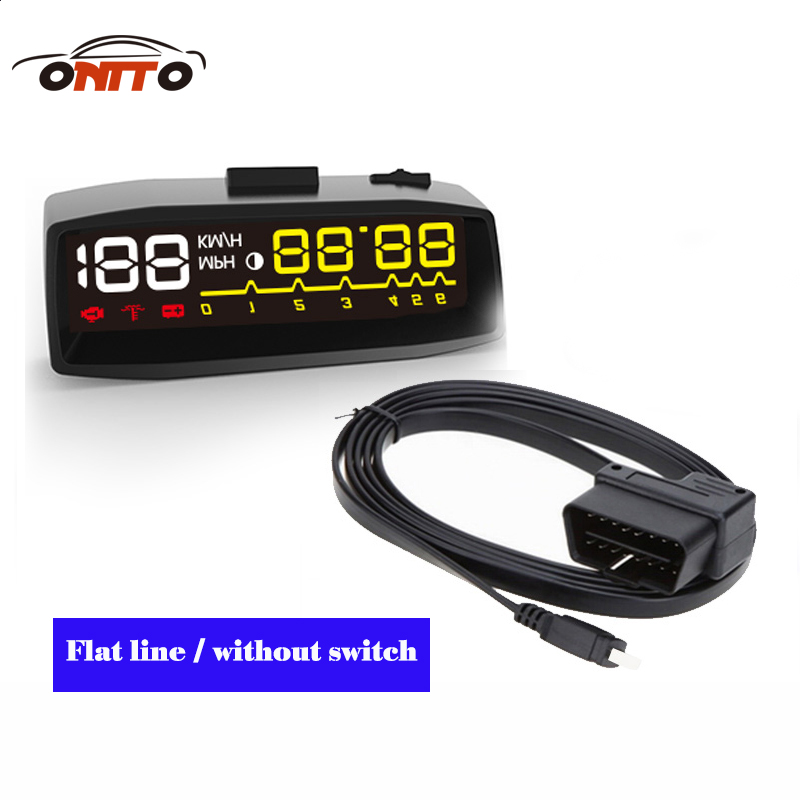 US $30 85 9% OFF|4F Car OBD2 II Manual Switch HUD KM/h MPH Overspeed  Warning Windshield Projector Alarm System Head Up Display-in Head-up  Display from
