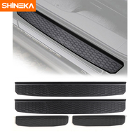 SHINEKA Car Accessories Door Sill Protector Plate Nerf Bars Runnign Board Entry Guard Boards for Jeep Wrangler JL 2018