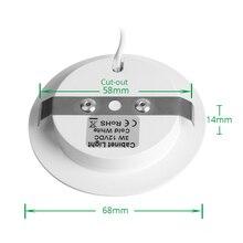 3W LED Under Counter Light Round Shape Puck Lamps Kitchen Furniture Cabinet Bookshelf Wardrobe Shelf Lighting Showcase Lamp