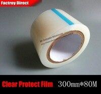 300mm * 80 M Transaparent Auto-Adhesivo Cinta Adhesiva de PE Película de Protección para La Tableta Mini Pad, Equipo portátil de Cristal de Metal Superficie de la Máscara