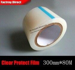 300mm * 80 Mt Transaparent Selbstklebende PE Schutz Film Klebeband für Tablet Mini Pad, Laptop Ausrüstung Metall Oberfläche Maske