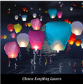 20Pcs/lot DIY 9 Colors Chineses Sky Paper Lanterns Lamps Flying Wishing Lantern Decor For Outdoor Party Decoration Balloon UFO