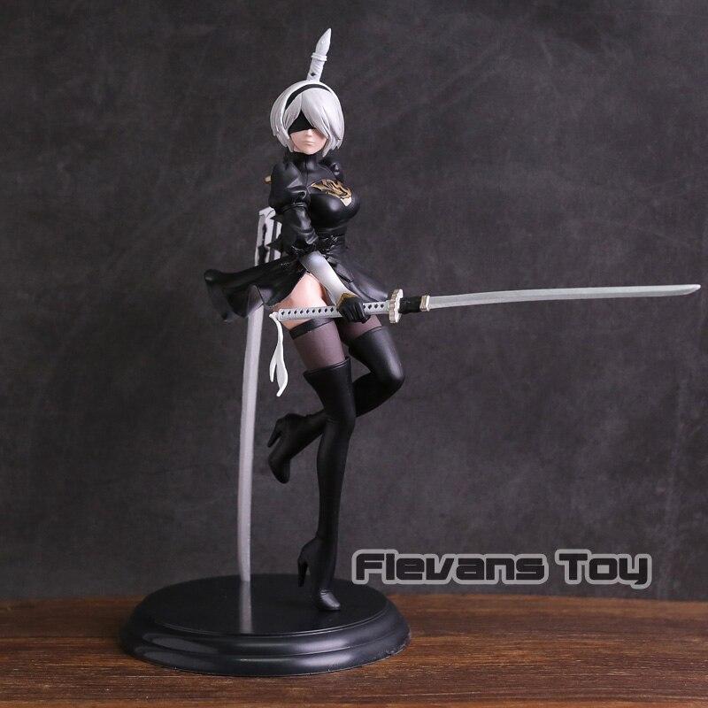 все цены на NieR Automata 2B YoRHa No.2 Type B 1/7 Scale PVC Figure Collectible Model Toy онлайн