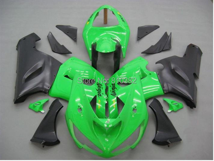Motorcycle Fairing Kit For KAWASAKI Ninja ZX6R 05 06 636 2005 2006 Cool Green Matte Black ABS Fairings Set 7 Gifts SX29 In Covers Ornamental