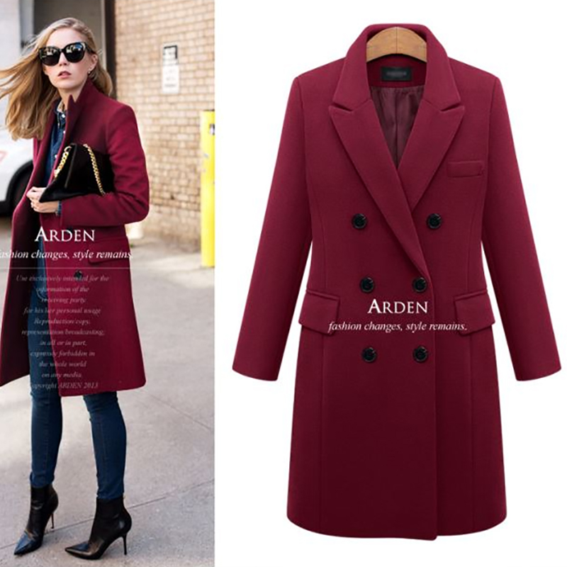 ALABIFU Spring Suit Blazer Women 2019 Formal Wool Blends Jacket Coat Work Office Lady Long Sleeve suits &blazer Plus Size 5XL
