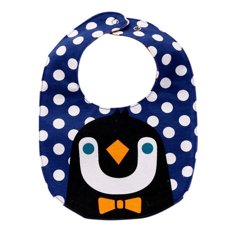 NEW fashion Baby Kids Saliva Bibs Toddler Boys And Girls Cartoon Print Pinafore For 0-2T ...