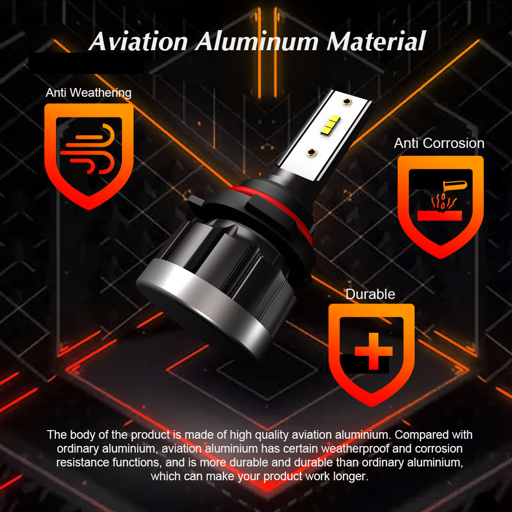 Image 4 - Auto H7 H1 H4 LED Bulbs Car Headlight H11 9005 9006 H8 H9 HB3 HB4 HB2 12V 24V Car Lights Kit Styling CSP Chip 72W 8000LM 6000K-in Car Headlight Bulbs(LED) from Automobiles & Motorcycles