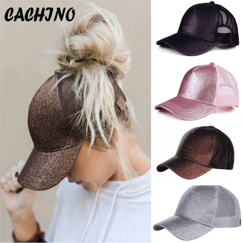 1a3adfea Dropshipping C.C Ponytail Baseball Cap Women's Cap Messy Bun Adjustable Cap  Sport Snapback Hats Fashion Outdoor Sports Snapback
