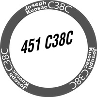 Joseph Kuosac JK406/451 Stickers for Two Wheels, Hollowed out Sticker, Folding Bicycle Bike Cycling Decals, Customize Size