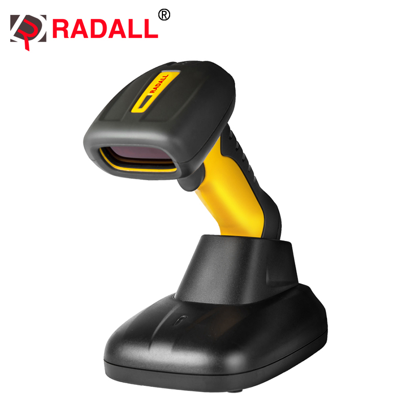 Portable Wireless Bluetooth 2D Barcode Scanner Waterproof IP67 Easy Charging QR Code Reader PDF417 For Android IOS Ipad RD-1203
