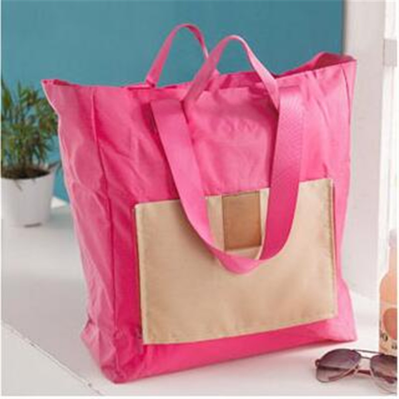 1Pcs 2015 New Fashion Travel Folding bag Portable Duffel bag no pull rod box receive package Shopping bags Single shoulder bag
