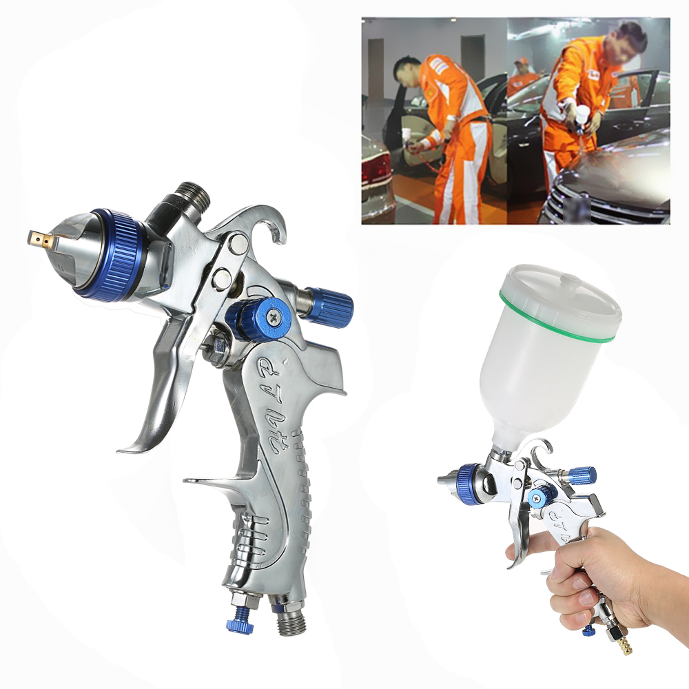 601 Airbrush Kit HVLP Air Spray Gun Gravity Feed Paint Sprayer Air Brush Set Stainless Steel