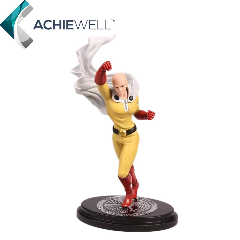 Anime ONE PUNCH MAN Saitama Sensei Face Changing 23cm Action Figures Cartoon Model Plastic Toys For Adult Collection Gifts Doll