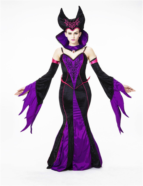 Aliexpress.com : Buy Gothic clothing Queen Halloween costume witch ...