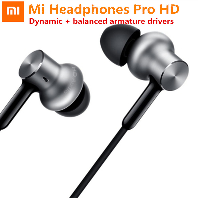 лучшая цена Original Xiaomi Mi In-Ear Earphone Pro HD Dynamic Balanced Armature Driver Earphone With Volume Control pk MI Earphone Pro