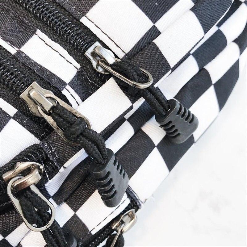 Hot Sale Waist Bag Women Men Unisex Chest Pack Lattice Checkerboard Fanny Pack Female Shoulder Belt Bag New Plaid Hands Free Bag