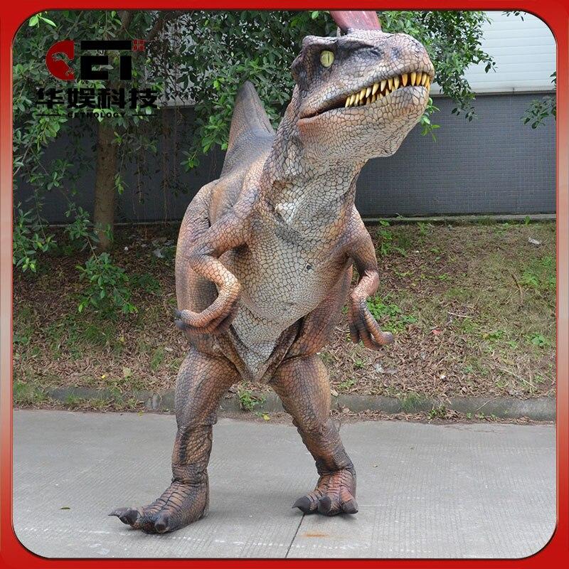 Взрослый костюм cryolophosaurus механический динозавр наряды костюм реалистичный ходячий динозавр костюм Tricky реквизит Косплей Монстр