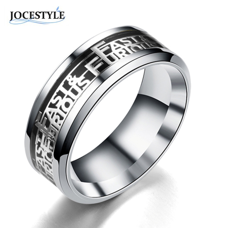 Black Ring Men Titanium Steel Ring Men Jewelry Vintage Punk Stainless Steel Ring for Men 2017 Fashion anel masculino New Arrival