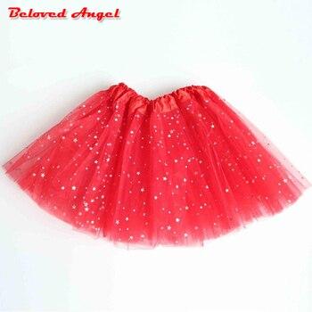 926337bc3 Falda tutú de bebé para niñas, falda de Ballet para niños, faldas para  niñas, faldas de fiesta de tul de princesa con estampado de estrellas