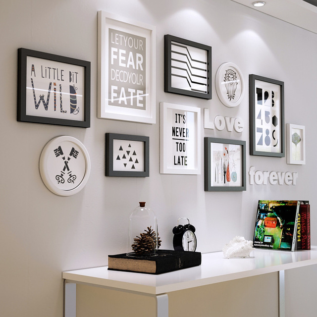 moderne massief hout fotolijst set woonkamer eetkamer. Black Bedroom Furniture Sets. Home Design Ideas
