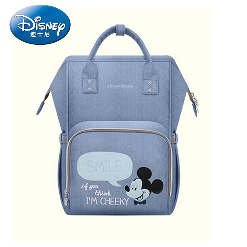 Disney Diaper Bag Nursing Care Baby Bag Cartoon Mummy Maternity Nappy Bag Water-proof Travel Backpack