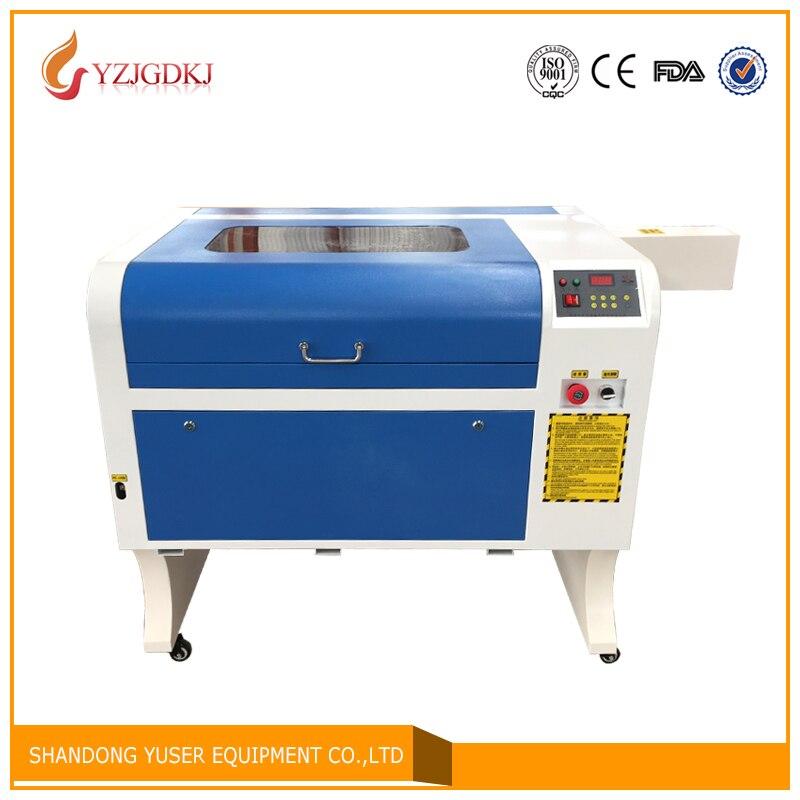 100 w laser di Trasporto libero 4060 Incisione Laser 600*400mm Co2 Macchina di Taglio Laser Specifical per il Legno Compensato/ acrilico/Legno/Cuoio