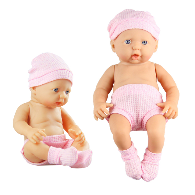 23CM Cute Simulation Soft Vinyl Dolls Infant Plastic Doll Baby Boy Kindergarten Lifelike Props Birthday Gift