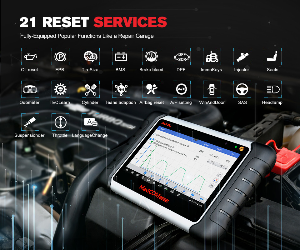 Image 3 - Original Autel Maxicom MK808TS Professional Automotive Diagnostic Tool TPMS Relearn Reset Programming Car Scanner Auto Scan Tool-in Engine Analyzer from Automobiles & Motorcycles on